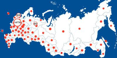Карта вируса в России