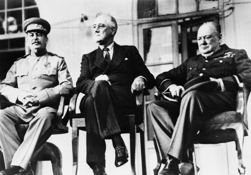 Большая тройка лидеров в Тегеране